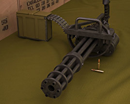 3D model of M134 Minigun