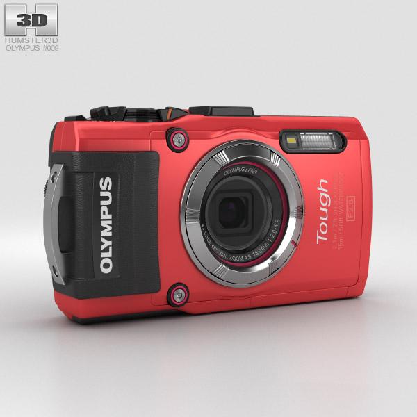 3D model of Olympus Tough TG-3 Red