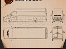 Volkswagen Crafter Extralong WB SHR 2011 Blueprint