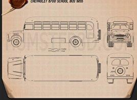 Chevrolet 6700 School Bus 1955 Blueprint