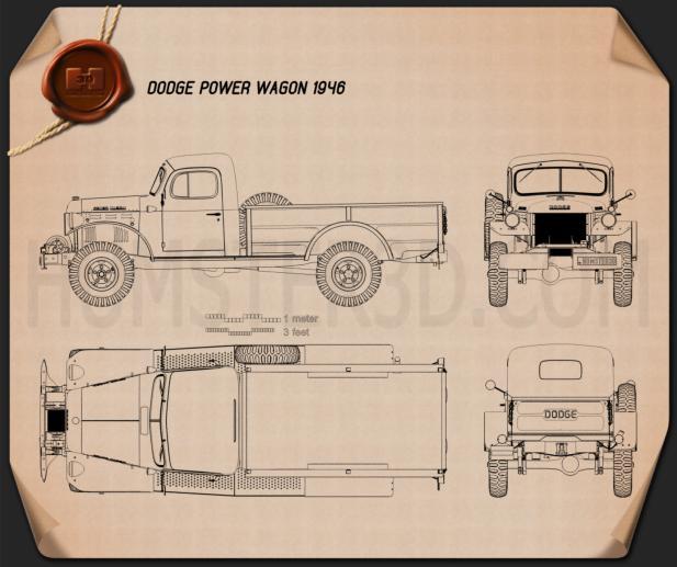 Dodge Power Wagon 1946 Blueprint