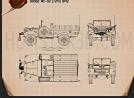 Dodge WC-52 (T214) 1942 Blueprint