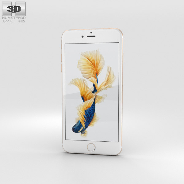 3D model of Apple iPhone 6s Plus Gold