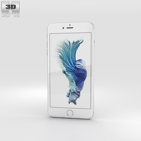 3D model of Apple iPhone 6s Plus Silver