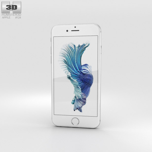 3D model of Apple iPhone 6s Silver