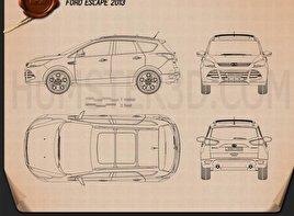 Ford Escape (Kuga) 2013 Blueprint