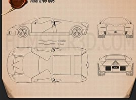 Ford GT90 1995 Blueprint