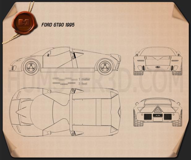 Ford GT90 1995 Blueprint