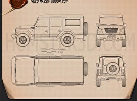 Iveco Massif 5-door 2011 Blueprint