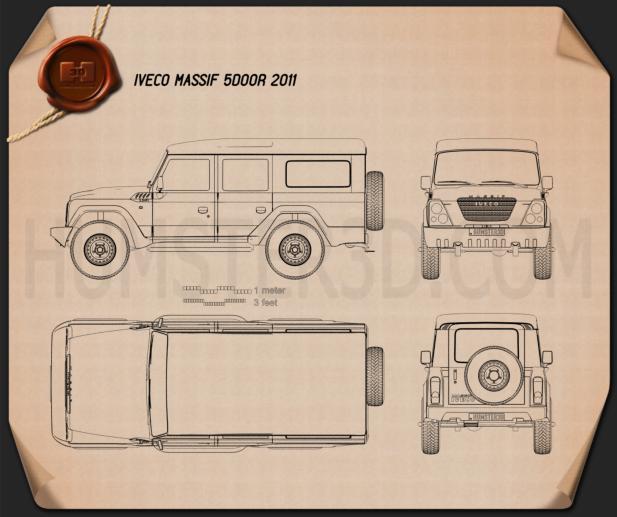 Iveco Massif 5-door 2011 Blueprint