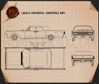 Lincoln Continental convertible 1964 Blueprint