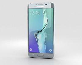 3D model of Samsung Galaxy S6 Edge Plus Silver Titan