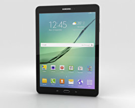 3D model of Samsung Galaxy Tab S2 9.7-inch Black