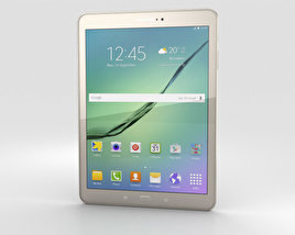 3D model of Samsung Galaxy Tab S2 9.7-inch Gold