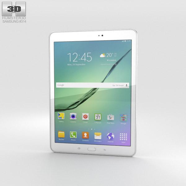 Samsung Galaxy Tab S2 9.7-inch White 3D model