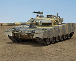 3D model of Al-Khalid MBT-2000