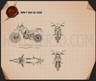 BMW F800GS 2008 Blueprint