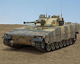 3D model of Combat Vehicle 90