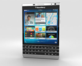 3D model of BlackBerry Passport Silver Edition