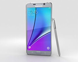 3D model of Samsung Galaxy Note 5 Silver Titan