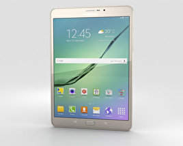 3D model of Samsung Galaxy Tab S2 8.0-inch LTE Gold