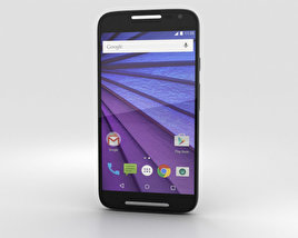 3D model of Motorola Moto G (3rd Gen) Black