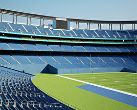 3D model of Qualcomm Stadium