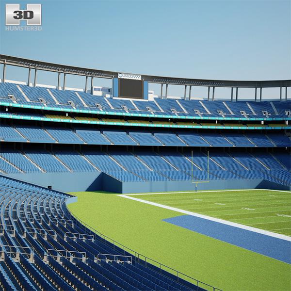 Qualcomm Stadium 3D model