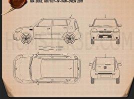 Kia Soul HotTot IV Van Oven 2011 Blueprint