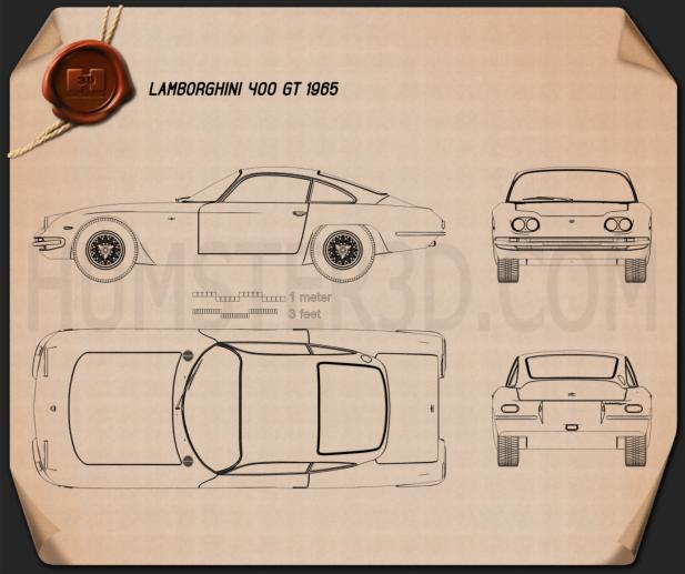 Lamborghini 400GT 1966 Blueprint