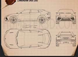 Lamborghini Urus 2012 Blueprint