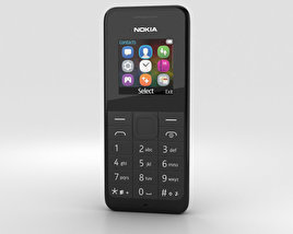 Nokia 105 Dual SIM Black 3D model