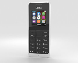 3D model of Nokia 105 Dual SIM White