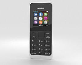 Nokia 105 Dual SIM White 3D model