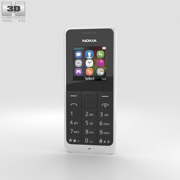 3D model of Nokia 105 Dual SIM White