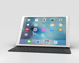 Apple iPad Pro 12.9-inch Silver 3D model