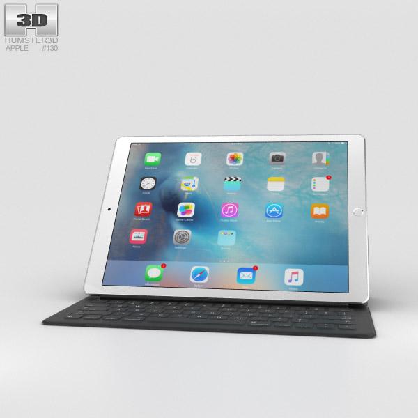 Apple iPad Pro 12.9-inch Silver 3D model