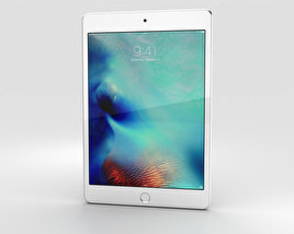3D model of Apple iPad Mini 4 Silver