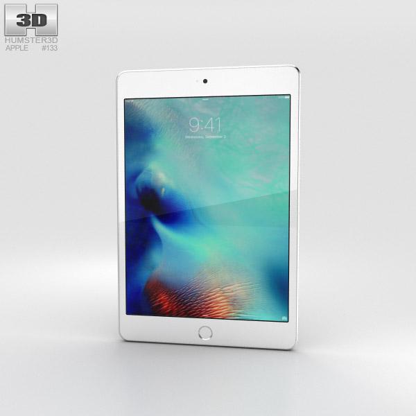 Apple iPad Mini 4 Silver 3D-Modell