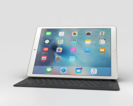 3D model of Apple iPad Pro 12.9-inch Gold
