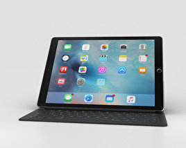 3D model of Apple iPad Pro 12.9-inch Space Gray