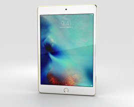 3D model of Apple iPad Mini 4 Gold