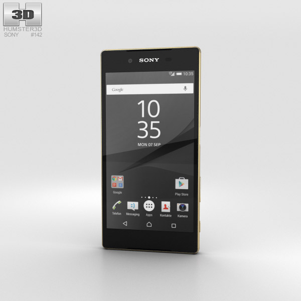 Sony Xperia Z5 Gold 3D model