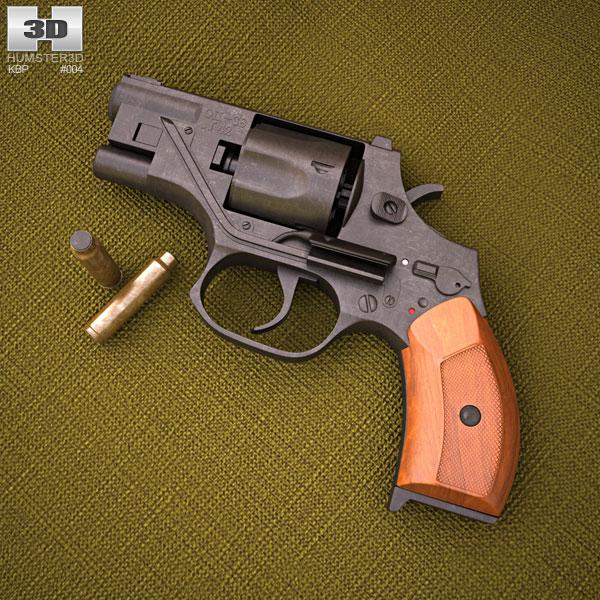 3D model of OTs-38 Stechkin silent revolver