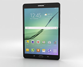 3D model of Samsung Galaxy Tab S2 8.0 Wi-Fi Black