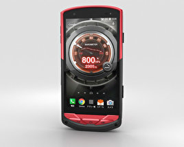 3D model of Kyocera Torque G02 Red