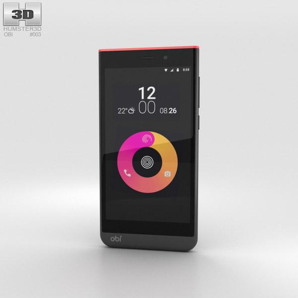 Obi Worldphone SJ1.5 Black/Red 3D-Modell