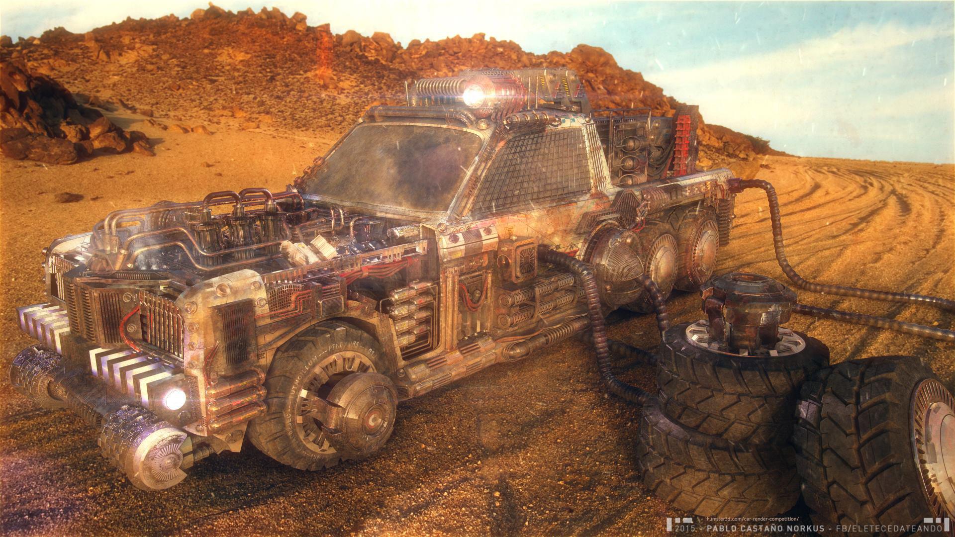 Desert-Dust Vehicle 3d art