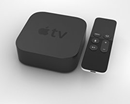3D model of Apple TV (2015)