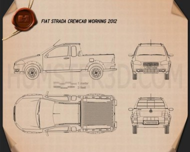 Fiat Strada Crew Cab Working 2012 Blueprint
